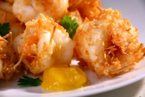 Coconut Prawns with Mango Sauce
