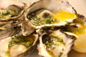 Baked Oysters with Garlic Herb Butter