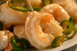 Lemon Ginger Prawns