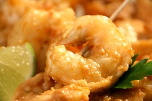Steamed Chilli Prawns